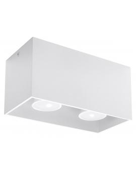 Lampa Sufitowa NEPTUN MAXI 2 Plafon Prostokąt Biała