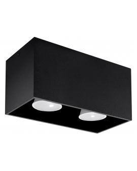 Lampa Sufitowa NEPTUN MAXI 2 Plafon Prostokąt Czarna