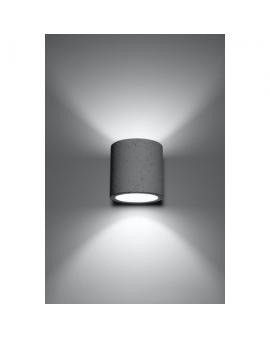 Designerski Kinkiet PLUTON Beton Lampa Ścienna Loftowa G9