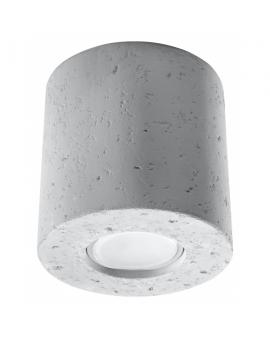 Nowoczesna Lampa Sufitowa PLUTON Plafon Beton Loftowe Oświetlenie G9