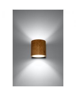 Kinkiet PLUTON Lampa Na Ścianę w Stylu Skandynawskim Drewno G9
