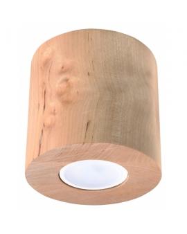 Nowoczesny Plafon Sufitowy PLUTON Skandynawski Design Drewno G9