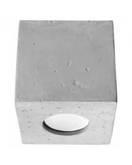 LAMPA sufitowa NEPTUN LED natynkowa betonowa DOWNLIGHT plafon KWADRAT kostka beton BOX spot szary