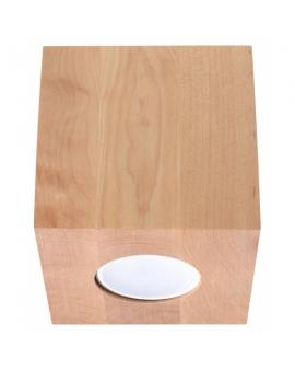 Drewniana Lampa Sufitowa NEPTUN Skandynawski Plafon Sufitowy Drewno