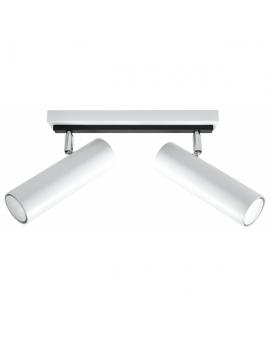 Plafon LINEA 2xGU10 Designerskie Oświetlenie Listwa Biała Walec