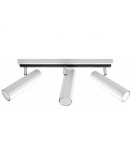 Reflektor LINEA 3xGU10 Plafon Regulowany Listwa Walec Biały