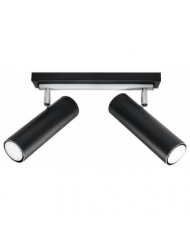 Nowoczesne Oświetlenie LINEA 2 Plafon Walec Listwa Czarna GU10