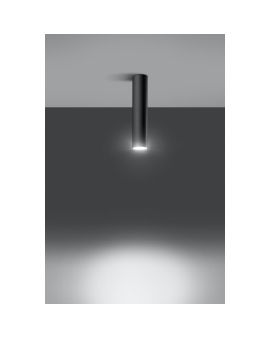 WYS. 24H! LAMPA sufitowa LANCA 1 CZARNY minimalistyczna OPRAWA metalowa SPOT tuba