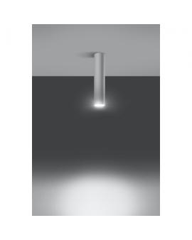 WYS. 24H! LAMPA sufitowa LANCA 1 BIAŁY minimalistyczna OPRAWA metalowa SPOT tuba