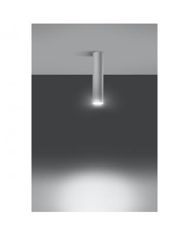 LAMPA sufitowa LANCA 1 BIAŁY minimalistyczna OPRAWA metalowa SPOT tuba