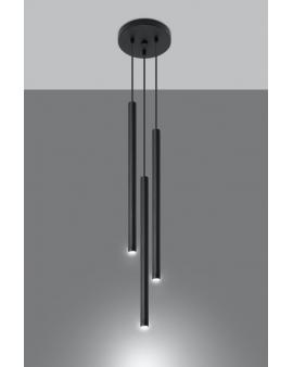 Oryginalna Lampa Sufitowa ROLLER 3 Stylowy Czarny Zwis Walec