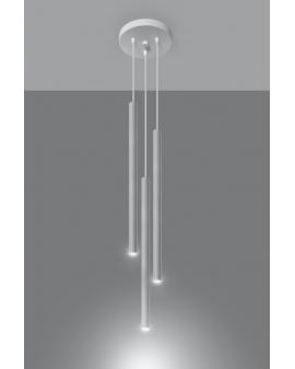 Oryginalna Lampa Sufitowa ROLLER 3 Biały Zwis Tuby