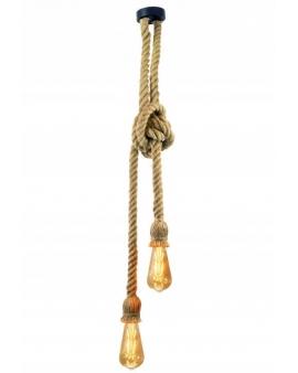 WYS.24H! Żyrandol lampa ze SZNURA 307613 POLUX ROPE 2 DESIGN LOFT VINTAGE E27