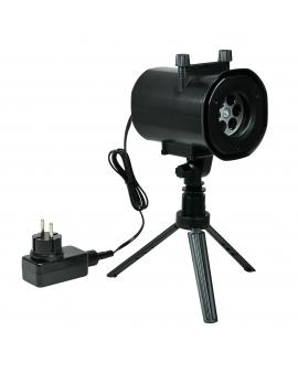 Projektor Laserowy 2 tryby 12W 14cm 15V IP44 Czarny
