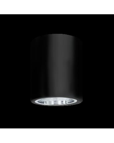 WYS. 24H! Plafon sufitowy OCZKO 10cm IP20 Metalowa DOWNLIGHT natynkowa techniczne SPOT E27 tuba czarny