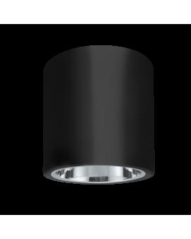WYS. 24H! Plafon sufitowy OCZKO 17cm IP20 Metalowa DOWNLIGHT natynkowa techniczne SPOT E27 tuba czarny