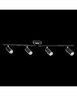 Lampa LISTWA sufit Plafon SAILO 4 Czarny SPOT 18W 960lm LED