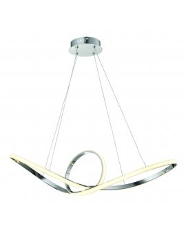 Lampa wisząca LED RING CR 34W 1500lm koło okrągła pierścień chrom