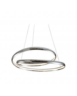 LAMPA LED RING 30W 1500lm żyrandol koło okrągła pierścień 55cm chrom