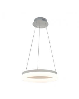 Lampa LED CIRCLE RING 30W 3000K 2200lm koło okrągła pierścień chrom