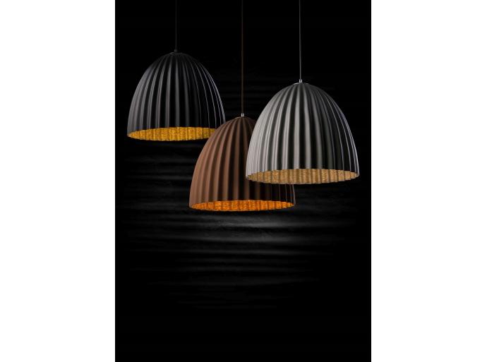 Nowy wymiar designu - Lampy TELMA karbowany klosz